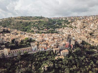 panorama via del mercato ragusa ibla